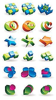 方块图标素材