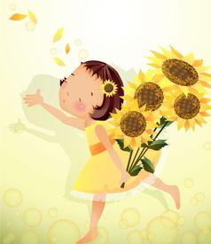 向日葵卡通图片