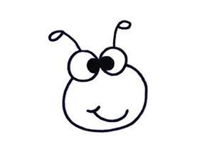 昆虫的卡通简笔画 蜜蜂 2