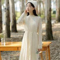 小清新蕾丝连衣裙中长款