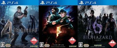复刻版 生化危机 4 5和6三作将发售PS4实体版