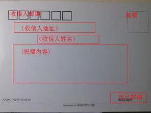 不分行的明信片格式咋写