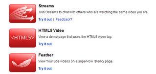 Youtube网站正式宣布将通过TestTube站点开放HTML5视频支持功能