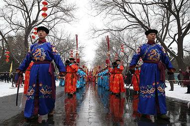 ...坛春节再现皇家祭天盛典 组图