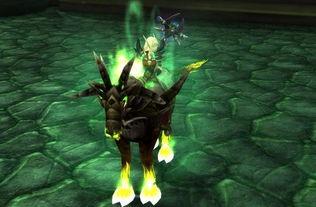 魔兽5.4 术士新职业坐骑造型及绿火效果预览