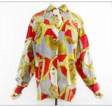 图片详情 -vintage孤品外贸复古古着 显色鲜红巴洛克铁链 男女