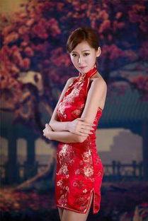 红色旗袍 性感迷人