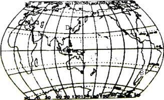 经纬度标注-读世界轮廓图回答下列问题 1 在图中适当的位置标注对应...