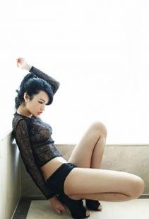 火辣 美女透明 黑蕾丝 性感美腿 性感 美女 模特