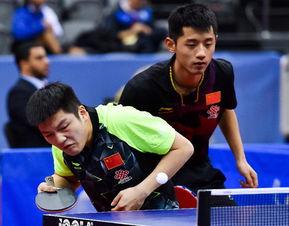 ...塔尔多哈进行的国际乒联世界巡回赛卡塔尔公开赛男子双打半决赛...