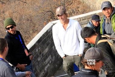 11月2日,好莱坞大片《变形金刚4:绝迹重生》剧组转场北京的第一...
