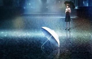 一个女孩独自撑伞在大雨中行走路的唯美图片 真人的 最好是孤寂的背影