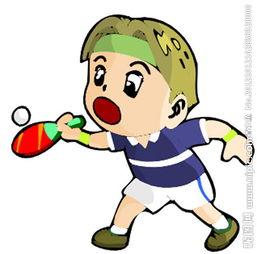 垂头丧气火柴人创意设计-乒乓球 卡通运动人物图片