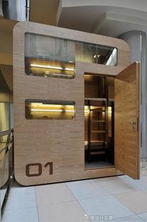 ...roupe微型酒店客房设计 sleepbox