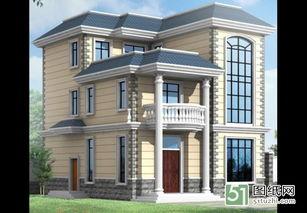 独栋实用经济三层带露台农村房屋设计图 全套