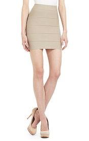 ... 经典高弹包臀绷带系列 亮短裙