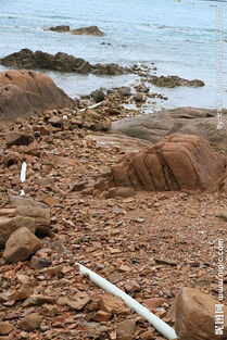 青岛海水浴场管道图片