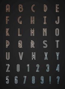 最新10个漂亮的英文字体
