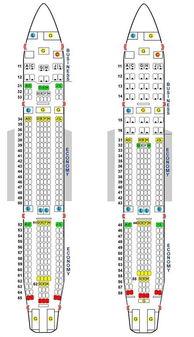 空客330飞机座位图