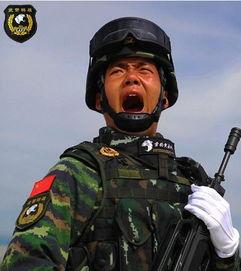 ...警部队受阅方队军人在训练中-独家策划 抗战阅兵英模方队背后的壮...