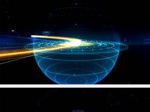 高科技数码地球粒子光线时空穿梭空间背景图片设计素材 高清MP4模...