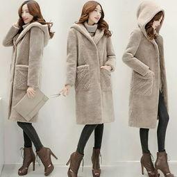 2016新款女装冬装韩版宽松大码中长款毛呢外套女羊羔毛连帽呢大衣