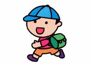 背着书包上学的小男孩简笔画图片大全素描