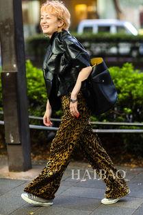 日本型人街拍示范豹纹时装-欧美街拍最IN单品之兽纹元素时装 玩好撞...