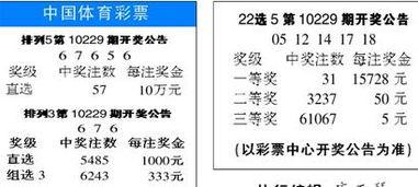 中国体育彩票开奖结果 22选5第10229期开奖公告