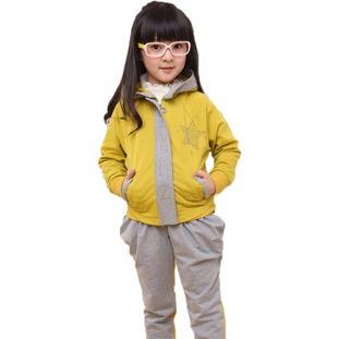 ...童卫衣 裤子 007 黄色 130码 适合身高120CM