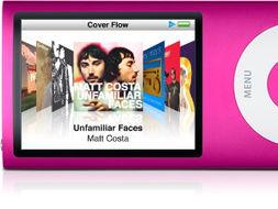摇动机身,随选播放 摇一摇 iPod nano,它会从音乐库中随机挑选音乐...