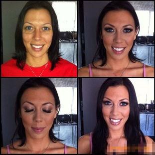 欧美黄片女星化妆前后对比吓人 组图
