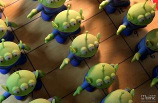 皮克斯的玩具:三眼小绿人-走进动画王国 探访皮克斯造梦者梦幻生活