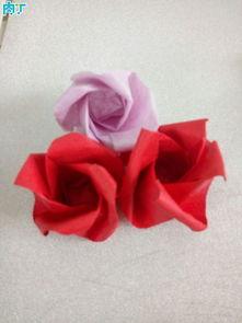 自制玫瑰 折法图解教程