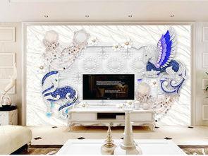 独角兽3D欧式软包珠宝背景墙