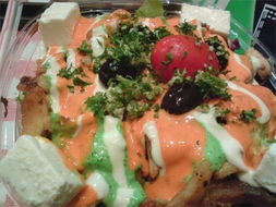 希腊鸡肉沙律-中东菜 烧烤 咖啡茶室 Ebeneezer s Kebabs Pizzeria