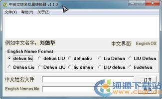 中英文姓名批量转换器 1.1.0 绿色版