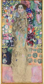 古斯塔夫.克林姆作品《portrait of Ria Munk》(1917-18)【2900万美元...