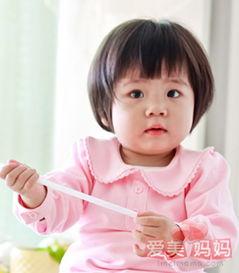 女宝宝波波头 时尚甜美显恬静气质