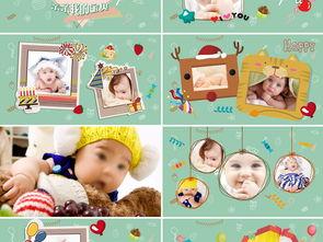 幼儿园儿童生日快乐成长档案电子相册PPT