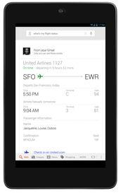 ▲航班信息-谷歌升级搜索引擎 搜索多项个性化信息