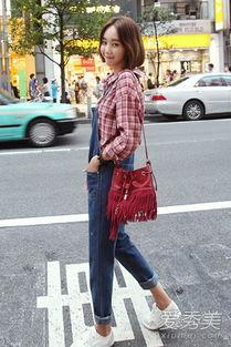 夏末韩国街拍 美妞们喜欢这些搭配