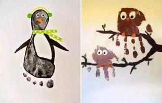 儿童创意美术画,没有一幅是用笔画出来的哦