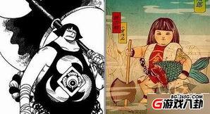 妖尾之西卡的苍炎-战桃丸的造型来源是最无可争议的日本民间传说人物--金太郎.这个日...