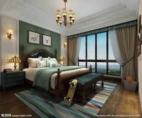 美式 男孩房 卧室图片