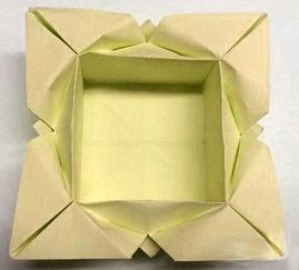 四叶草纸盒子的折法