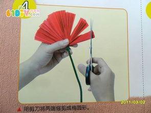 怎样制作幼儿园大红花