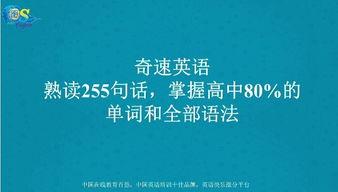 熟读255个句子掌握高中英语80 的单词和全部语法 1 50朗读