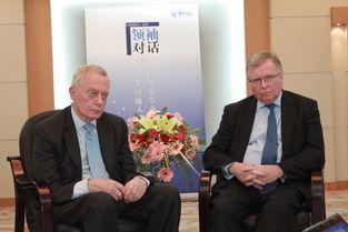 英国标准人寿保险公司董事长Gerry Grimstone与首席执行官David ...