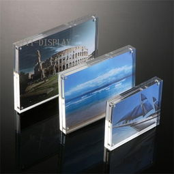 Simple style extra clear ultra thick acrylic magnet photo frame picture frame A130